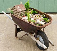 El Arabasının İçine Minyatür Bahçe Nasıl Yapılır?   Çevreci Bahçem