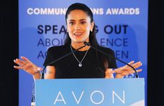 In recognition of International Women's Day, Avon Foundation for Women Ambassador Salma Hayek Pinault awarded four global organizations and one government campaign with the 2nd Avon Communications Awards: Speaking Out About Violence Against Women.