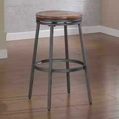 Have to have it. American Woodcrafters Stockton Backless Bar Stool - Slate Gray/Golden Oak - $99 @hayneedle