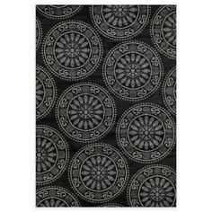 Concord Global Trading Lumina Medallion 5-Foot x 7-Foot Area Rug in Black