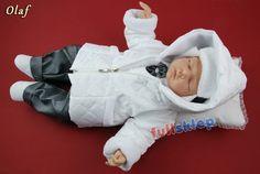 Okolicznościowe ubranko na zimę dla niemowlaka lub do chrztu