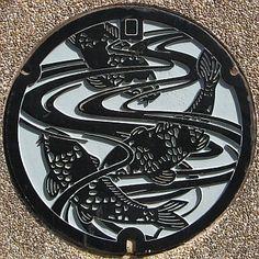 Manhole Cover Art  Ojiya city Niigata