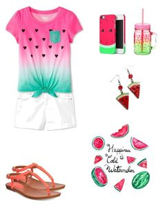 """""""Watermelon Love🍉❤"""" by micaylovesart on Polyvore featuring art"""