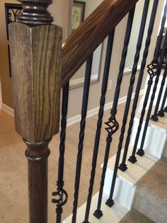 Love the wrought iron stair case - this photo from the Lennar Brookstone series model home in our neighborhood