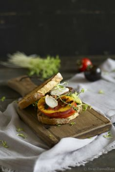 Grilled Portobello and Peach Sandwich..can make this a burger too