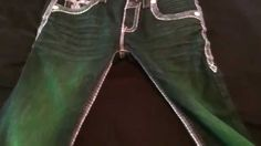 Rock Revival  Exclusive customized #RL #4leafclover Studded Jeans, Rock Revival