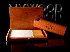 Personalized Cigarette Case With Lighter, Engraved Wooden Cigarette Holder Box, Gifts For Him, Christmas Gifts, Engraved Smoking Case Gift
