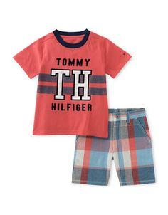 1ee0e4673adb6d Tommy Hilfiger Toddler Boys  2 Piece Short Set