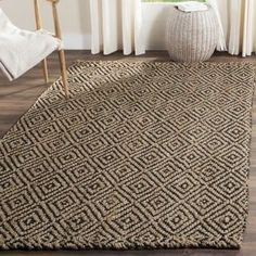 Shop for Safavieh Casual Natural Fiber Hand-Woven Natural / Black Jute Rug (8' x 10'). Get free shipping at Overstock.com - Your Online Home Decor Outlet Store! Get 5% in rewards with Club O! - 18654935