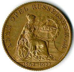 Rüsselsheim Adam Opel, 100 Mk brass 1922 (Menzel 22126. 1. )    Dealer  Karl Pfankuch & Co    Auction  Minimum Bid:  30.00EURO