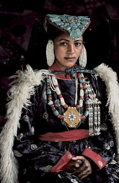 The people of Ladakh live in very high mountain valleys between the Himalaya and Karakoram ranges in the northern Indian state o