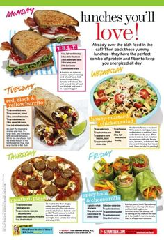 Stay energized with this protein packed menu of healthy and delicious work lunches!