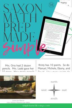 """simply prepare to teach Saxon Math 3; all """"the night before"""" preparations are here.  all the """"problems of the day"""" are here.  Simply download, print and use with your Saxon math student.  Perfect for busy homeschool parents"""