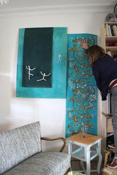 Handmade wallpaper from LLZ TAPET Denmark  Prøveopsætning....