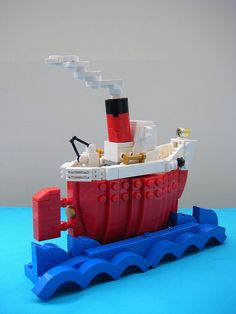 lego steam boat | red | Flickr