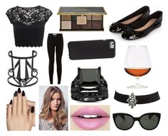 """""""Maddison from American horror story COVEN"""" by hailey-smith-13 ❤ liked on Polyvore featuring Miss Selfridge, Static Nails, Ciaté, Accessorize, Maria Francesca Pepe, Fiebiger, New Look, Oliver Peoples, Case-Mate and Wet Seal"""