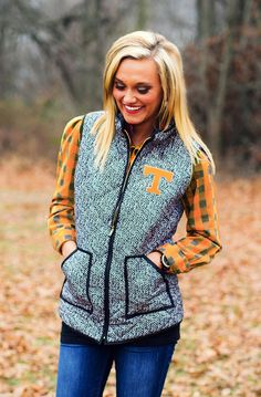 TENNESSEE HERRINGBONE QUILTED PUFFER VEST