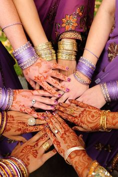 A group of chicas at an Indian wedding. Gorgeous.