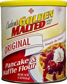 Carbon's® Golden Malted® Original Pancake & Waffle Flour | Since 1937, when we developed our patented recipe for Golden Malted® Pancake & Wa...