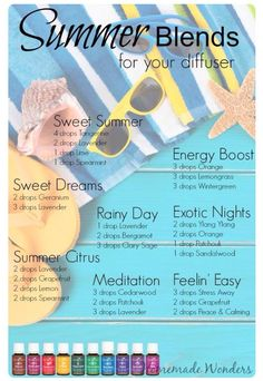 Young Living essential oil diffuser blends for summer