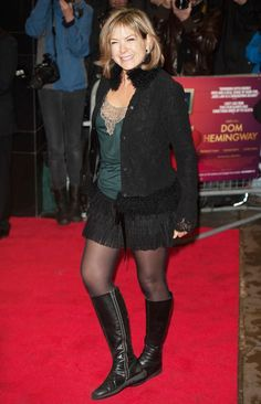 Happened upon this in an old folder, and it reminded me of just how fvckin' hot Penny is. Black Boots Outfit, Black Riding Boots, Skirts With Boots, Tights And Boots, Black Celebrities, Celebs, Penny Smith, Penny Lancaster, Tv Girls