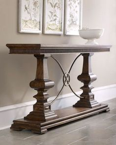 entry table - perhaps in off white?