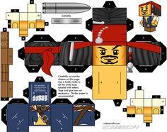 papercraft   Jack Sparrow Lego x Cubeecraft   Papertoys, Papercraft Paper Arts