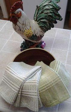 Rigid Heddle Cotton Fingertip Towels