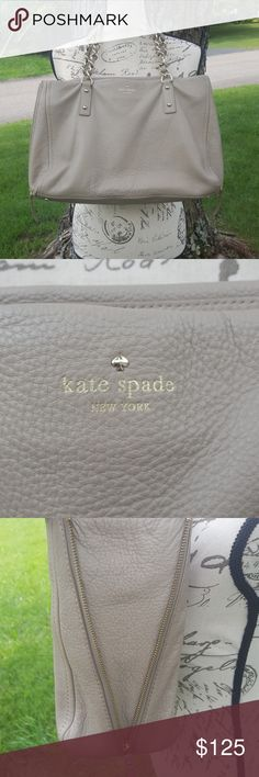 Large nuetral Kate Spade tote EUC Neautiful nuetral color!! Will pair with anyrlthing!! It is a large tote. Will add measurments later. Just trying to make yhe active party. kate spade Bags
