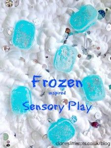Whilst hunting through the freezer this morning I came across some sparkly blue ice cubes that I had forgotten about and had planned to use for some Frozen sensory play. With it being freezing outside again today and after an hour of playing in wh.