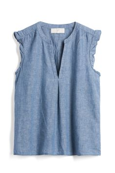 Chambray is VERY versatile and always looks cool , comfy and casual. Chambray Top, Denim Top, Casual Outfits, Fashion Outfits, Cute Outfits, Womens Fashion, School Looks, Stitch Fit, Stitch Fix Outfits