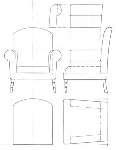 Drawing of a basic traditional style armchair scalearmchair drawing for styrofoam chair'Model-making Basics' – modelling and shapingTemplate drawings for furniture model-makingChair miniature How To (uses sheet foam, Kava board) Modern Dollhouse Furniture, Diy Barbie Furniture, Miniature Furniture, Furniture Legs, Garden Furniture, Furniture Design, Vitrine Miniature, Miniature Houses, Miniature Dolls