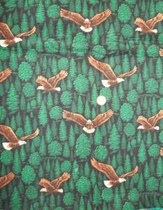 """Eagle Forest Trees Fabric, 42"""" x 25 """"  $5.50"""