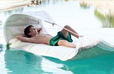 Sail around you pool as you dream on this #polyurethane float