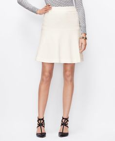 95ec34980500 Boiled Wool Flounce Skirt Work Clothes, Ann Taylor, I Dress, Dream Closets,