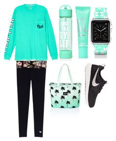 """""""Mint green Victoria secret inspiration"""" by emilyharwoodx on Polyvore featuring Victoria's Secret, NIKE and Casetify"""