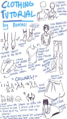 Clothing Tutorial Pt. 1 requested by @olivepattycake. I'm not fully clear on drawing clothes myself, and I'm not very good at explaining , and my handwriting is messy, but I tried my best to make it clear! By @rohinicupcake.