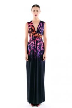 Magda Maxi - Multicolor - wyszczuplająca suknia z kolorowym printem Prom Dresses, Formal Dresses, Maxis, Forget, Fashion, Dresses For Formal, Moda, Formal Gowns, Fashion Styles