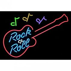 Neonetics Wall Lighting Rock and Roll Guitar Neon Sign - rock-and-roll-guitar-neon-sign