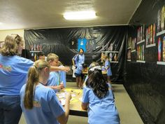 Great look and feel for G-Force VBS! Thanks to Laurel Heights UMC in TX for this scene! cokesburyvbs.com