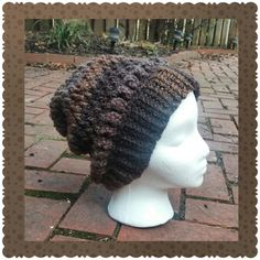 Crocheted this slouchy hat