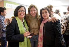 Rosa Matías con Sonia Franco, de AEE, y Lydia Aguirre, de El País