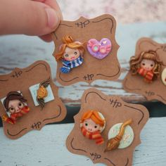 Polymer Clay Disney, Cute Polymer Clay, Polymer Clay Animals, Cute Clay, Polymer Clay Dolls, Polymer Clay Charms, Polymer Clay Projects, Clay Crafts, Polymer Clay Jewelry