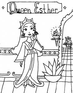 esther become king ahasuerus queen coloring page | sunday school ... - Esther Bible Story Coloring Pages