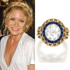 Mary Kate Olsen's vintage Cartier engagement ring from Olivier Sarkozy #MaryKateOlsen #engagementring