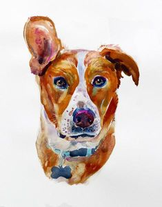 Custom Pet Portrait, Pet Portrait, Original Painting, Watercolor Painting - Gift Art - Dog Portrait This listing is for a single portrait of your pet. The last
