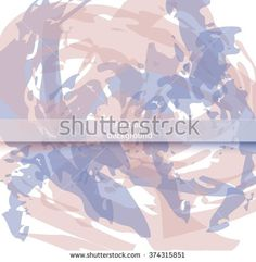 Watercolor abstract geometric texture vector  background pastel color - trend spring summer seasons - stock vector