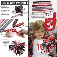 Support your favorite player with these easy to make pom pom's.
