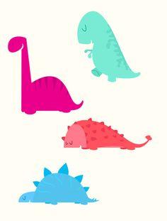 cute dinosaurs Art Print