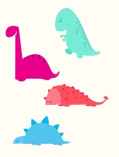 cute dinosaurs Art Print